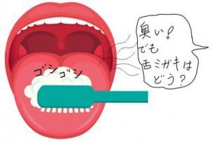 舌が臭いから歯ブラシで磨く