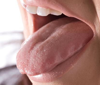 デリケートな舌の表面