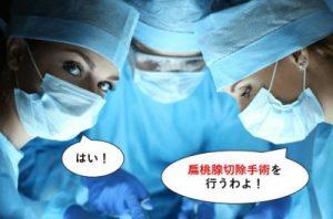 扁桃腺切除手術を行う
