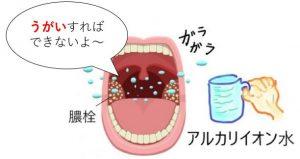 アルカリイオン水のうがい