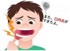 口内炎がある男性