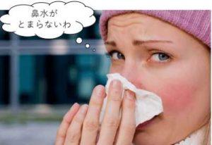 鼻水がとまらない女性