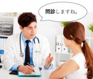 舌癌のチェックをする医師