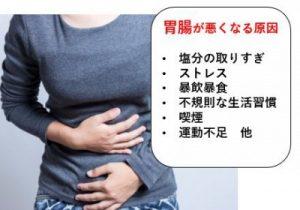 胃腸が悪くなる原因