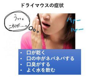 ドライマウスの症状
