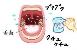 舌苔うがいで舌を綺麗にする