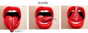 舌の体操の図