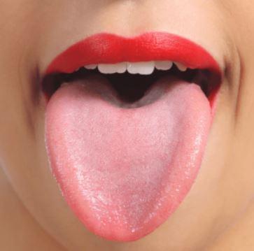 ピンク色の舌